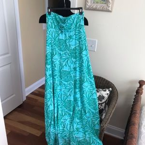 Lily Pulitzer Strapless Maxi Dress